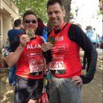 MARATHON: Islwyn MP, Chris Evans, ran a respectable 4:20