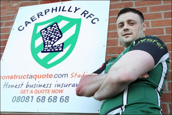 Caerphilly captain Gareth England will lead his side out at the Principality Stadium on Sunday, April 16, when Caerphilly face Amman United in the National Bowl final. Photo by JoanneBurgessPhotography.com