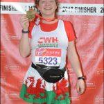 MARATHON: Kathy Lye raised over £700 for Caerphilly Workmen's Hall