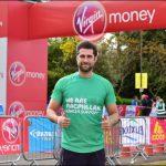 MARATHON: Caerphilly born celebrity, Matt Johnson, ran for MacMillan Cancer Support. Photo by Joanne Davidson