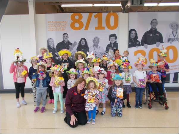 Easter bonnets were on display at Sainsbury's Pontllanfraith on Good Friday