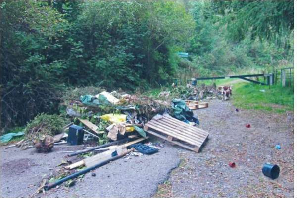 Scott Morris admitted that this waste found at Blackvein Road in Crosskeys was his
