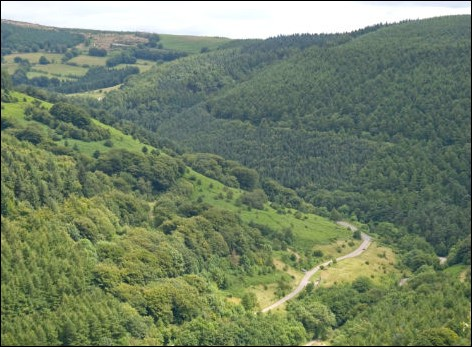 Cwmcarn Forest Drive. Photo from NRW