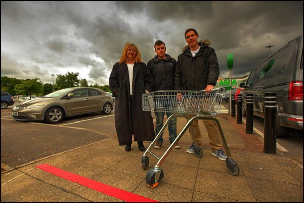 Morgan Jones councillors Shelley Hodder, Shayne Cook, and James Pritchard have praised Asda for implementing a new locking system on their trolleys