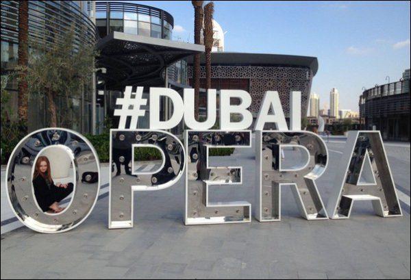 HIGH RISE: Eliana outside the Dubai Opera House ahead of three days of performances with the Welsh National Opera