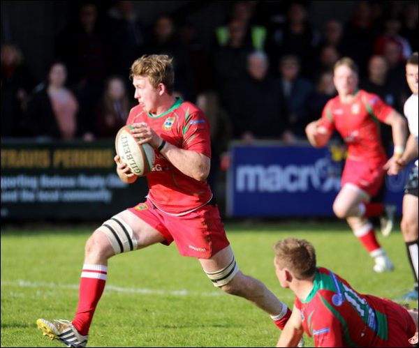 George Lee breaks through for Bedwas during their last-gasp win over Pontypridd