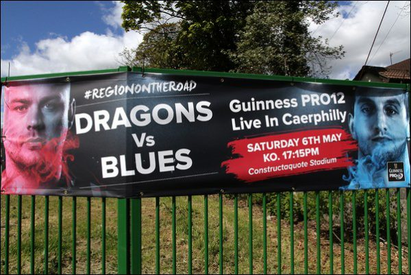Caerphilly RFC's Constructaquote Stadium will host the rearranged Guinness Pro 12 derby between Newport Gwent Dragons and Cardiff Blues. Photo by Joanne Burgess