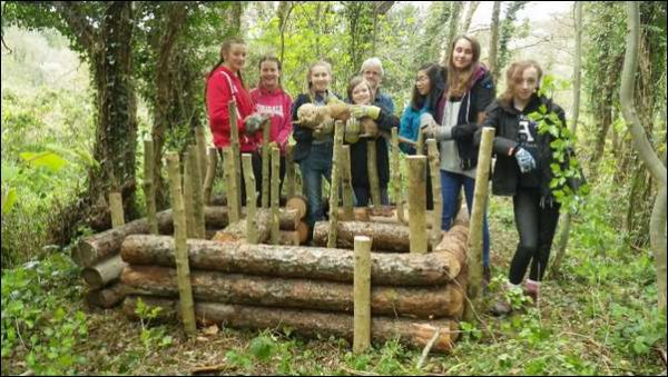 OTTERLY FANTASTIC: Risca Girl Guides and their otter holt