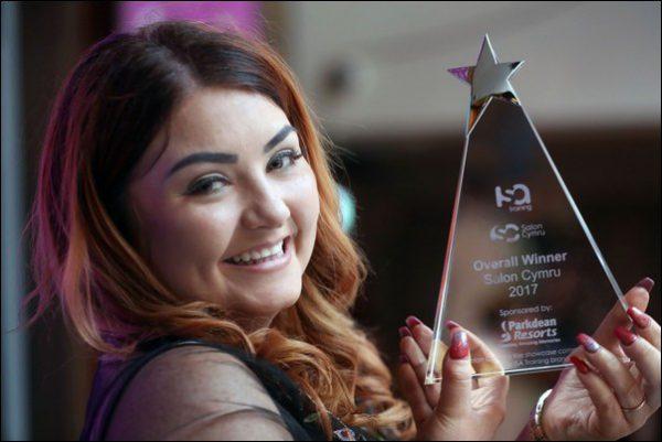 Sacha Gilman with her award