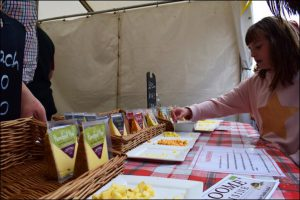 In a town famous for its own, cheese was a popular attraction at the Caerphilly Food Festival