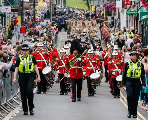 Close to 12,000 people turned out to support Armed Forces Day in Caerphilly