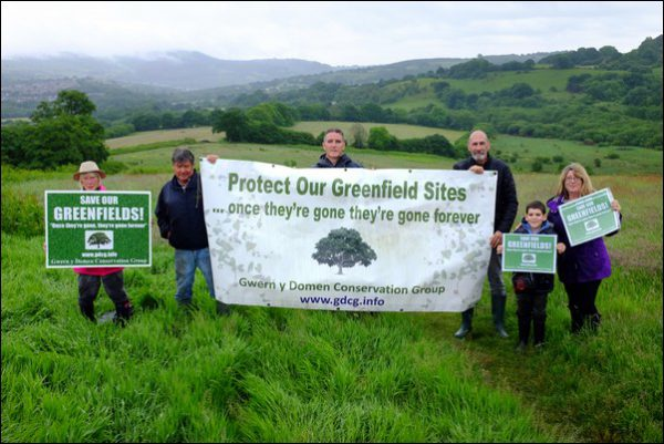 UNDER THREAT: Campaigners from the Gwern y Domen Conservation Group have been backed in their fight against a planned housing development by TV wildlife presenter Iolo Williams
