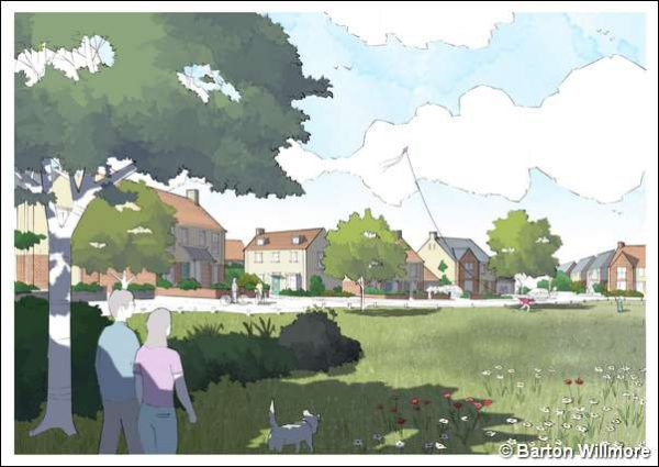 An artist's impression of the proposed development at Caerphilly's Virginia Park Golf Club