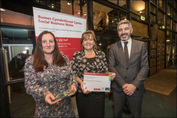 The Furniture Revival won the Environmental Social Enterprise award at the Social Business Wales Awards