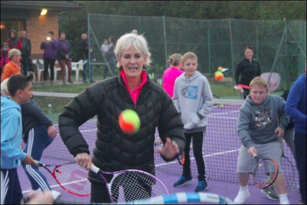 Judy Murray at Caerphilly Tennis Club