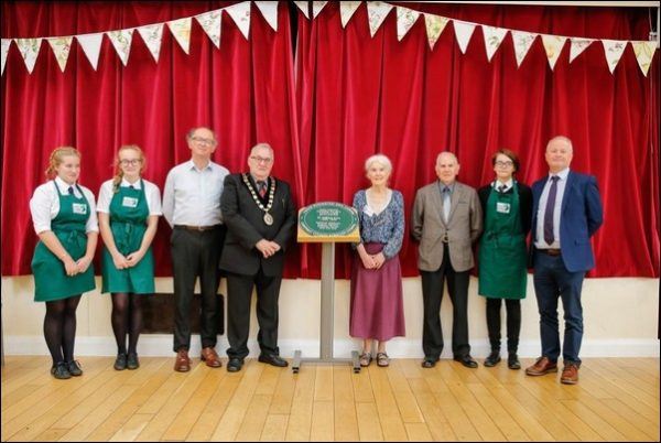 The plaque dedicated to William Price was recently unveiled at Rudry Parish Hall