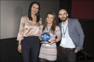 Universal UK director Hannah Mungo left with Minion, Bon Bon Buddies' Emily Howarth, centre, and Jason Allitt of Universal