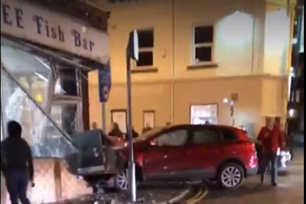 Car crashes into chip shop in Ystrad Mynach - Caerphilly Observer