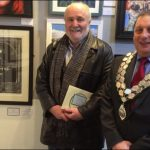 Caerphilly Town Mayor with competition winner Ian Fisher