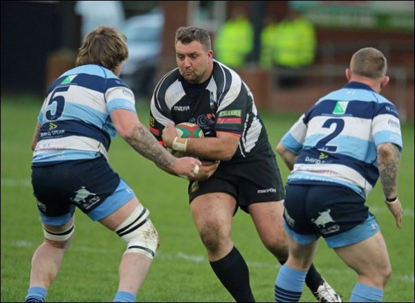 Geraint Evans carries the ball for Bedwas into the Bargoed defence