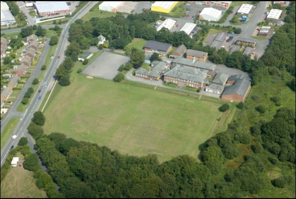 FOR SALE: The playing fields at the former site of Bedwellty Comprehensive School