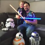 I AM YOUR FATHER: Simon Tilley winner of Star Wars competition and son Harry