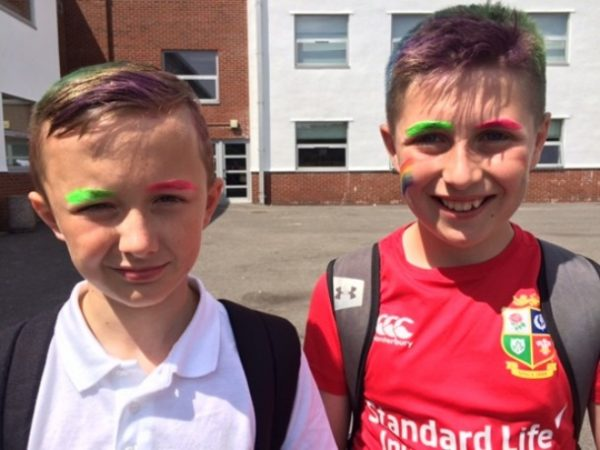 Lewis School Pengam was celebrating its Pride Day for the second time