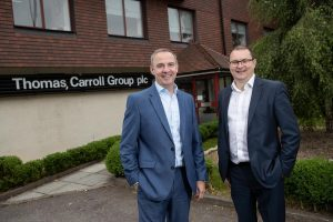 AMBITION: CEO Rhys Thomas, left, with Gareth Cotty