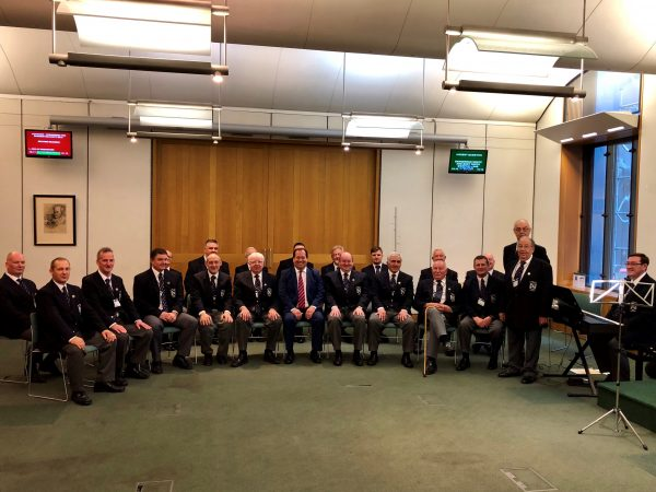 Rhymney Silurian Male Choir visited the Houses of Parliament on Tuesday, October 9