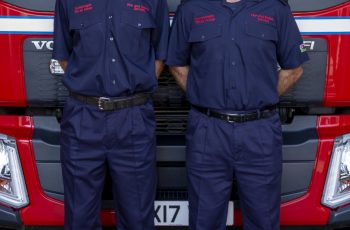Station Manager Steve Logan on the left and former Watch Manager Phil Logan on the right