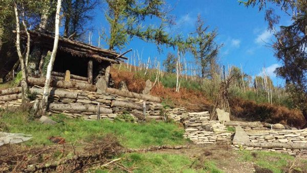 How the cabin looked before it was demolished