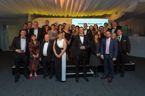 All of the winners of the 2018 Caerphilly Business Forum Awards