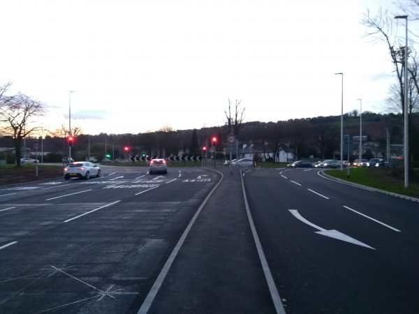 Work on Caerphilly's Pwllypant roundabout was completed on November 26