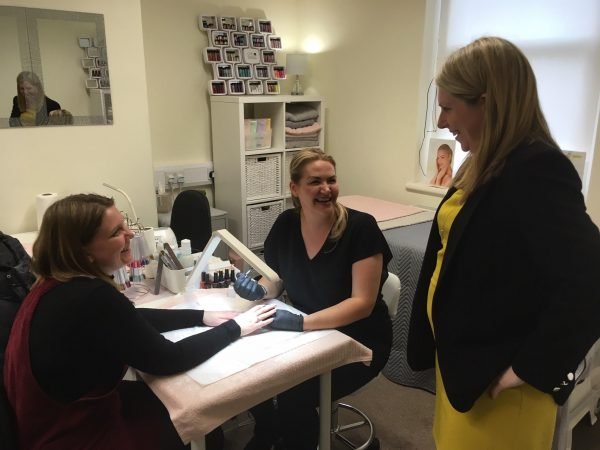 Beautician Lisa Morgan has her business based at the Miners Centre and is also a trustee of the charity