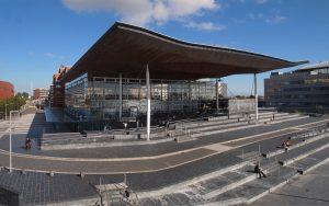 The Senedd in Cardiff Bay
