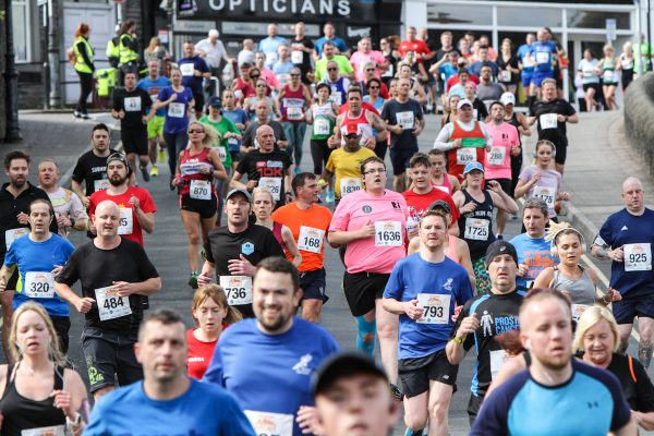 Runners taking part in the Caerphilly 10k