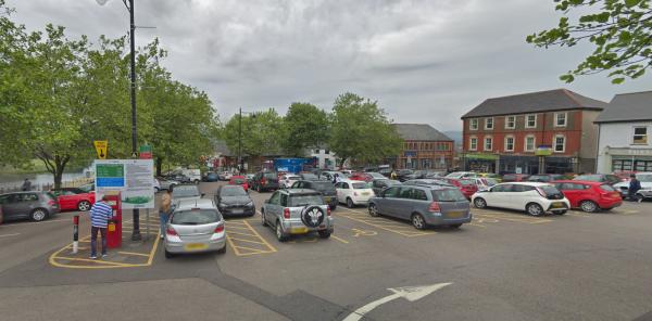 Twyn car park, Caerphilly town centre