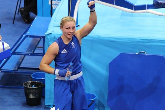 Lauren Price after her victory against Nouchka Fontijn in the European games