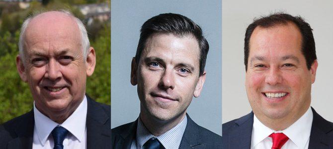 Wayne David MP, Chris Evans MP and Gerald Jones MP