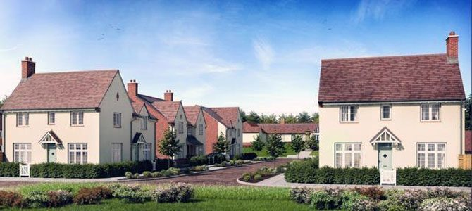 An artist's impression of what the new homes could look like