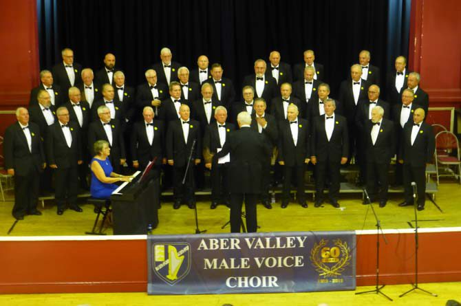 Aber Valley Male Voice Choir performing at its 60th anniversary concert