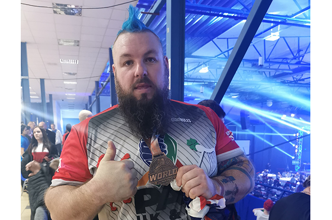 "Dean ""The Welsh Wolverine"" Bolt won bronze at the IFA World Championships"