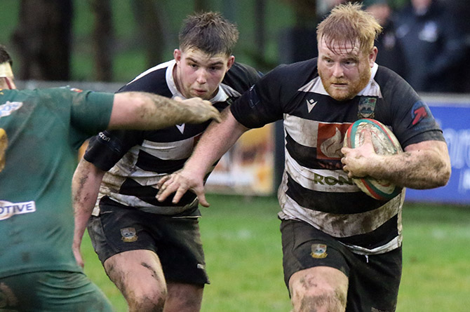 Bedwas prop Kelvyn Williams, right, in action against Beddau