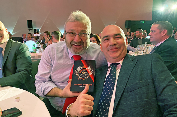 Vantastec's Colin Smith, left, and Gareth Edwards with their award at the awards ceremony