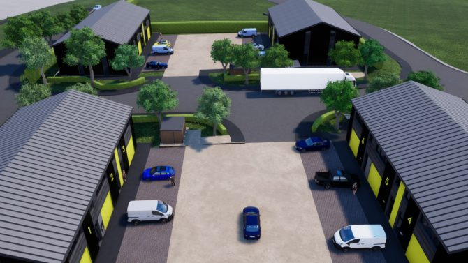 An artist's impression of the planned development at Ty Du