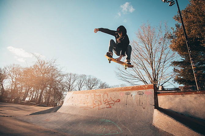 Stock image of skate park
