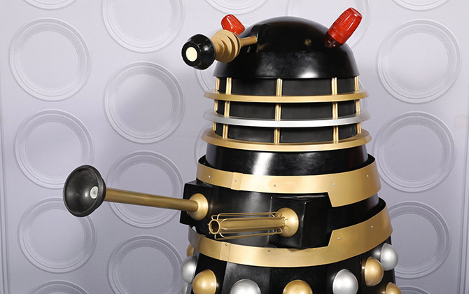 The model dalek that instructed residents to stay indoors