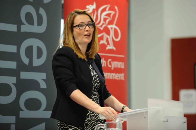 Welsh education minister Kirsty Williams