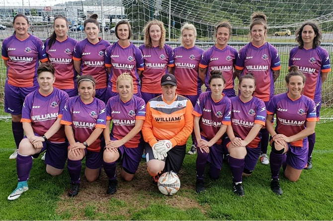 Cascade Ladies YC compete in the Welsh Premier Women's League
