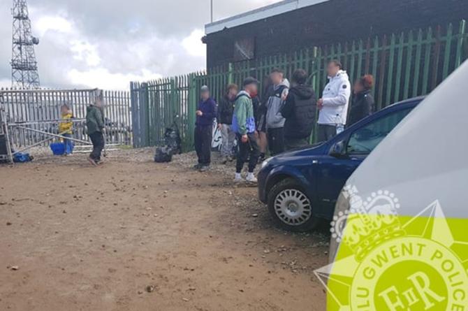 Police broke up an illegal rave near Abercarn